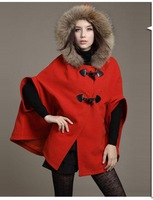 Free postage to autumn and winter female Korean woolen Cape fur cloak coat shawl