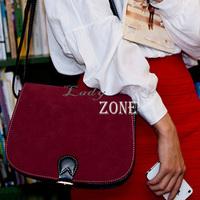 Korea Fashion Women's Girl Splicing Magnetic Clasp Single Shoulder Bag Cross Body Handbag 14221