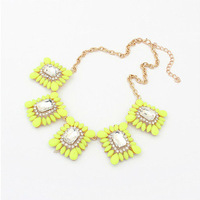 Free Shipping! 2013 New Arrival Fashion Classic Gold Plated Europe Joker Character Drill Statement Necklaces Lady Necklace N340