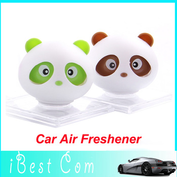 10pcs Free shipping New Panda refreshing fragrance car Air Freshener Perfume Diffuser Block For Car/Motor/Home perfume wholesale