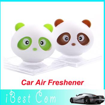 10pcs Free shipping New Panda refreshing fragrance car Air Freshener Perfume Diffuser Block For Car/Motor/Home perfume wholesale