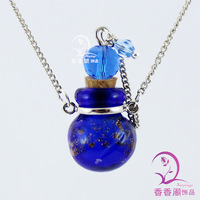 Murano Glass Perfume Necklace Dust Ball  Handmade Aroma Necklace  glass spray perfume bottle  perfume bottle