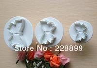 Free Shipping  3PCS Butterfly shape cake cookies machine plunger paste sugar craft decorating tools