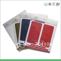20pcs Free shipping Good quality Carbon Fiber Design Protective Skin Decal Sticker for iPhone 4 4G