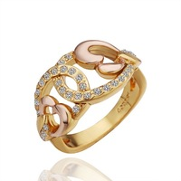 18K Gold Plated Nickel Free Ring Latest Fashion Jewelry Factory Price Wholesale and Dropshipping LR260-8