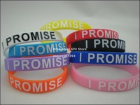 I Promise Wristband, Printed bracelet, 9colours, 100pcs/lot, free shipping
