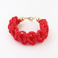 Min. order is$15(mix order)New Arrival Hot Sale Fashion Manual Vintage Beaded Discount Bracelet Jewelry