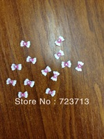 Flat Rhinestone Resin Nail Decoration 3D Nail color bowtie patch super cheap wholesale free shipping