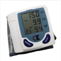Digital Wrist Blood Pressure Monitor & Heart Beat Meter + free shipping