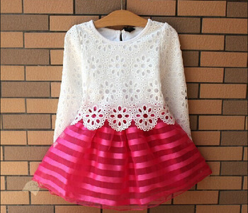 Wholesale and retail new 2013 summer girls dress, princess children dress (size for 3-8 years) color pink/purple