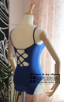 Free shipping Spaghetti strap after woven gym suit ballet dance leotard dance clothes  wholesale