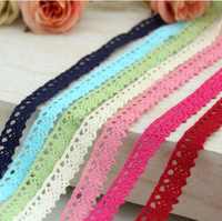 7 Colors 70 Yard Mixed Cotton Lace Trim for Sewing, DIY Patchwork Craft, 12mm, Free Shipping