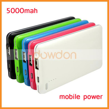 Rechargeable Charger 5000mAh Battery Pack Power Bank for Mobile Phones