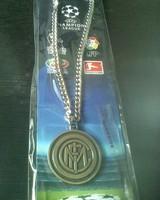 Inter Milan  bronze metallic necklace  /  football team hanging ornament