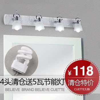 T brief modern acrylic mirror light bedroom bedside lamp bathroom mirror cabinet lighting glass lighting fitting