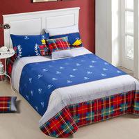 Bed sheets separate 100% cotton single bed slanting 100% cotton stripe bed sheet laguan multicolor