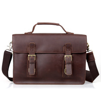 Cattle man bag fashion vintage crazy horse leather male handbag briefcase one shoulder cross-body genuine leather dual-use