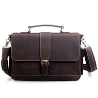 Cattle vintage man bag male commercial genuine leather briefcase shoulder bag messenger bag handbag bag 9917