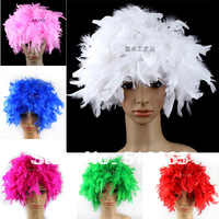 free shipping  party supplies carnival feather wigs,Masquerade wigs