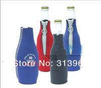 Custom Imprint REAL 3 mm Neoprene Zip-up 330ml Beer Bottle Coolers, Zipper Foldable Can Koozie,Beer Coolies,Holder