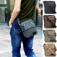 Men's Retro Small Casual Boy's Vintage Shoulder Messenger Cross Body Canvas Bag S209