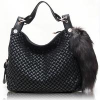 Free shipping Women's handbag bag women's handbag 178 - 6 genuine leather woven bag
