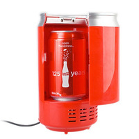 Free shipping Mini USB PC Fridge Beverage Drink Cans Cooler & Warmer for Laptop Computer