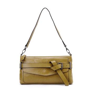 Free shipping 2013 fashion crocodile pattern cowhide buckle accessories handbag women's handbag