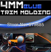 POWER SELLER 4MM x 10FT Blue Taillight Bumper Fender Hoods Moulding Trim Strip For DODGE + FREE 3M Glue GIFT