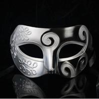 100pcs/lot silver and black Roman Greek for Mens mask masquerade ball masquerade party supplies