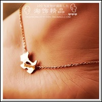 Wholesale Fashion Foot Jewelry Lovely Dog Ankle Bracelet  for Women with Rose Gold Titanium, Free Shipping