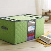 free shipping wholesale news Candy color bamboo clothing storage box non-woven baina box zipper hard finishing box quilt storage