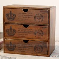 Zakka vintage retro finishing wood storage cabinet storage cabinet file cabinet drawer cabinet postmarked