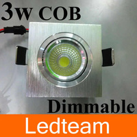50p/lot 2013 newest style 3w 300lm Dimmable cob led ceiling light Warm / pure White 110v 220v CE&ROHS Free shipping