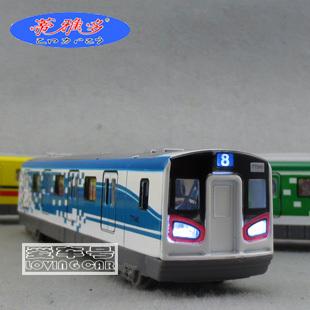 Vocalization plain high speed subway alloy train head ferri- open the door model toys