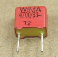 Weimaraner German WIMA capacitors 63V4700P 472 4N7 friction machine must FKP 2.5%