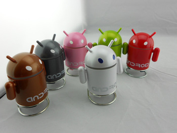 For google   doll robot portable speaker small speaker band radio mini mobile phone audio mp3