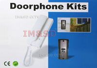 Cheapest  Home Security 2-Wire Connection Doorphone Kits With Unlocking Function Talking Distance is Above 100m free shipping