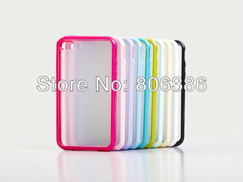 Wholesale 200pcs/lot New Fashion Hard MATTE PC & Soft GEL TPU Rubber Back Cover Case For iPhone 5 5G,Mobile phone Case