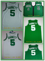 men basketball Jersey No.5 Kevin Garnett  5 styles New fabric printing Jersey,Free shipping!
