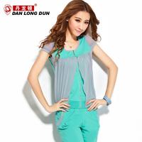 2013 summer female short-sleeve sweatshirt sports set female slim sportswear women's