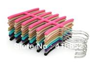 5 Colors NonSlip Belt Neck Tie Socks Hanger Rack Organizer Scarf Closet Holder Hanging 2pc