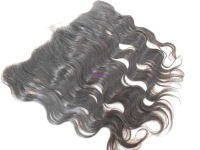 """Peruvian virgin hair lace frontal and closure 13""""x4"""" Body wave bleached knots Free shipping baby hair #1b color"""