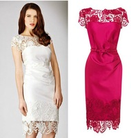 Quality Guarantee Sexy lace shortsleeve dress cocktail/formal/party/prom Dress 7506 -Free Shipping
