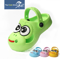 HOT SALE, 2013 summer cartoon beach eva garden clogs sandals shoes  big eyes child slippers baby sandals male female child