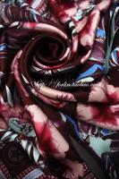 Fashion  women scarf Given y fashion slanting stripe silk scarf large facecloth silk scarf 5