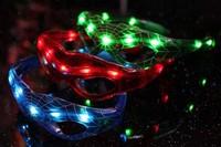 High quality  Hot Sale led spiderman glasses LED mask glasses flashy mask for party 50cs