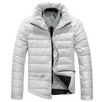 Fashion Winter jacket Men's Outerwear Winter parka waterproof windstopper down overcoat removeable hoodies White