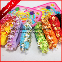 Free shipping 48pcs/lot Wholesale/Retail Good quality hair bands with Golden Yarn Nice hair accessories for girls Factory sale
