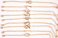 24pcs/lot Wholesale Free Shipping Fashion Number bracelet  Arabic numerals Bracelets Bangle